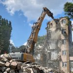 We are working on the demolition of P13 Building – Student Accomodation Politehnica Bucuresti